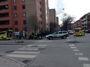 Här i korsningen Fabriksgatan/Änggatan inträffade olyckan.