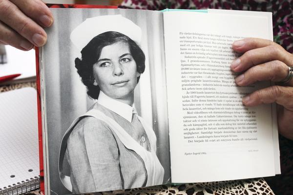 """Förr. """"En gång var även jag en ung vacker flicka"""", säger Ingrid själv om bilden som finns med i boken."""