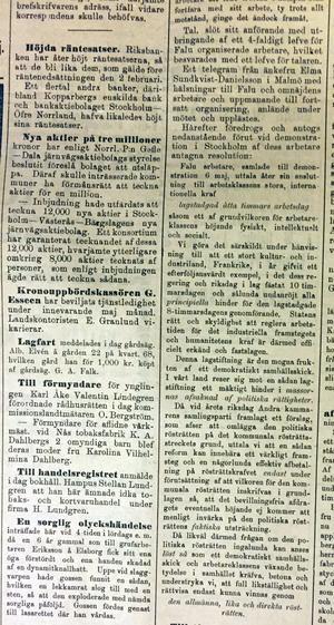 1900 års demonstration - slutet på referatet.