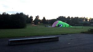 Ballongen säckade ihop på Talltorps fotbollsplan.