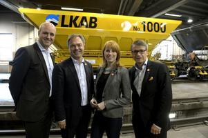 Regeringens Fredrik Reinfeldt (M), Jan Björklund (FP), Annie Lööf (C) och Göran Hägglund (KD) besökte i går Kiruna för att berätta om satsningen på gruvnäringen.