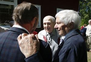 Sverker Thyr, Henry Hedman och Jonas Andersson återförenades, och delade gamla minnen.