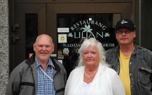 Leif Södergren, Ann-Cecilia Thenander och Tommy Arnberg hälsar välkomna till Borlänge jazzklubb i höst. Foto: Lennart Götesson