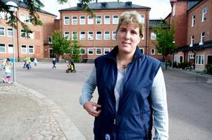 Skolan i Falun har genomgått ett riktigt stålbad de senaste åren. Mer än 100 miljoner kronor har sparats in. Skolnämndens ordförande Maria Gehlin (FAP) har haft ett tufft jobb. Foto:Kjell Jansson