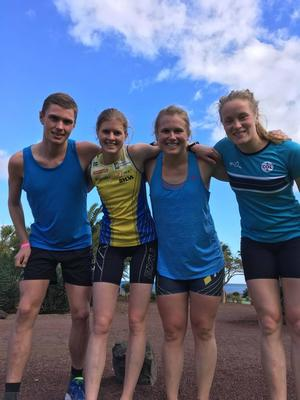 Marint Regborn, Andrea Svensson, Lilian Forsgren och Josefin Tjernlund är länets bidrag i orienteringslandslaget 2017. Just nu är allihop på träningsläger på Fuerteventura.