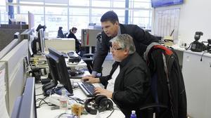 Per Bowallius blir försäljningschef för Mittmedia. Här tillsammans med Göran Widerberg, digital redaktör på VLT.se