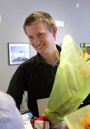 Olof Wedin uppmärksammades som bästa elev inom grenen personbilsteknik.