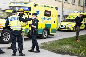 Polis, ambulans och räddningstjänst var snabbt på plats.
