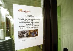I december 2010 firade Fjällhälsan att den ekonomiska föreningen drivit hälsocentral i Hede i fem år. Sedan dess har en mottagninng öppnats i Vemdalen by och föreningen har också gått in i ett samarbete med Region Jämtland Härjedalen i läkarmottagningen på Vemdalsskalet. Nu har föreningen planer på att starta filial i Sveg och Björnrike.
