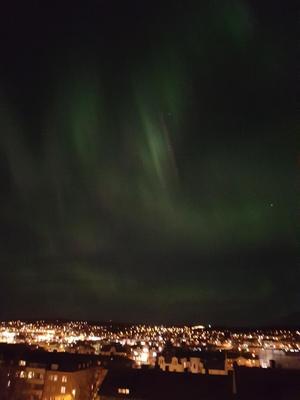 Nattvy över Härnösand från Norra Kyrkogatan, foto: Åsa Vestling.