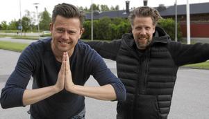 Fredrik Wikingsson och Filip Hammar gillar Mittmedia – och att skoja om Mittmedias tv-sändningar i sitt tv-program Breaking News på Kanal 5.