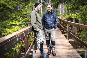Peter Hallgren och Niklas Svensson berättar om restureringen av Enån norr om Färila.