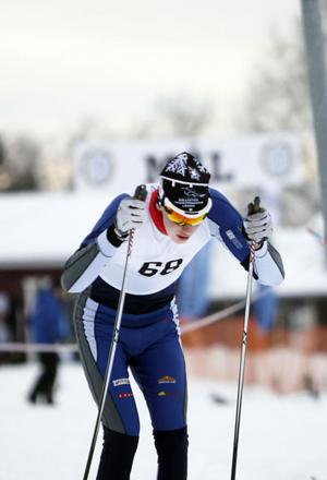 Gustav Nilson från Njutånger körde in som tvåa i H 17–20-klassen.