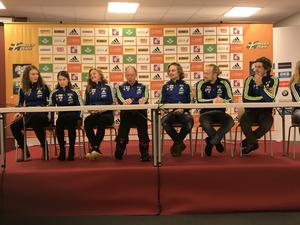 Hanna Öberg, Anna Magnusson, Linn Persson, Wolfgang Pichler, Jesper Nelin, Torstein Stenersen och Fredrik Lindström.