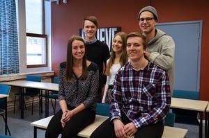 My Persson, Erik Holmberg, Tilda Johansson, Erik Nordin och Conny Nyström går alla på teknikprogrammet på Sundsvalls gymnasium.