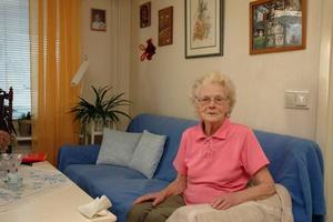 Gillar att träffa folk. Solveig Wahlborg, 89 år, som bor på Björken ser fram emot nyöppnandet av matsalen.