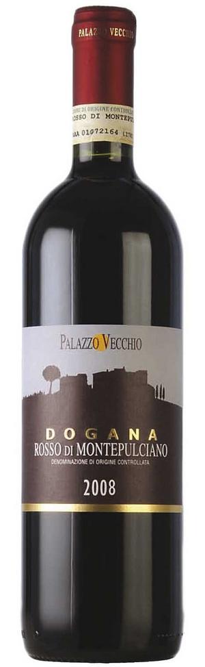 Bra köttvin. Dogana från Rosso di Montalcino i Toscana är ett intensivt mörkt körsbärsfruktigt vin med viss mognad.