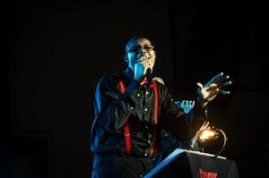 Quincy Mako Rycraw Cochran var en av åtta studenter från gospellinjen vid Mellansels folkhögskola som uppträdde igår.
