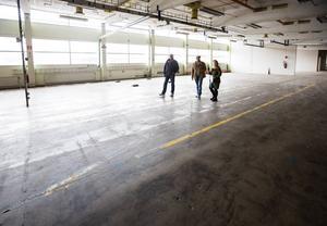 De gamla fabrikslokalerna ekar tomma sedan nedläggningen.