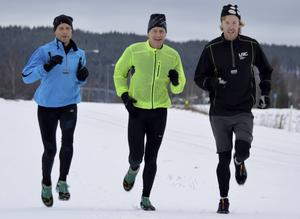 Jörgen Östh, Andreas Öberg & Lars Jonsson, Ljusdal Running Club.