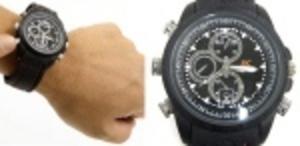 Vattentät spionkamera i klockan