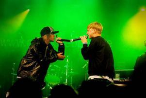 Hiphopkollektivet Storsjöodjudet tog plats på Gaffascenen sent på torsdagen. Såkel & Konsistens var ett av banden som uppträdde.