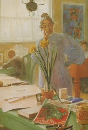 """""""Karin i ateljén"""" målades av Karin Larssons make Carl."""