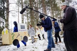 De två särskoleklasserna på Körfältet håller just nu på att spela in en film. Med hjälp av ett statligt bidrag på 35 000 kronor har de kunnat genomföra inspelningen.