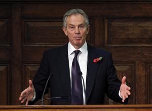 Vann tre val. Tony Blair förde en marknadsinriktad politik och ledde det socialdemokratiska Labourpartiet till tre valsegrar i rad i Storbritannien. Foto: AP/TT