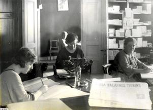 Bild från tidningens kontorsavdelning på 30-talet.