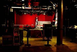 """Byggets scen byggs upp inför starten på årets torsdagskoncept """"Rock At Bygget"""" som drar de stora artisterna till Åre den här säsongen."""