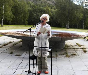 Gun Rosvall från Alfhild Agrell-sällskapet.