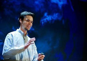 Miljöforskaren Andreas Gyllenhammar. Foto: Ulrika Andersson