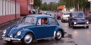 Intresset för cruising ökar snabbt i Härjedalen. Bilden är från Handelns Dag i Sveg nyligen.