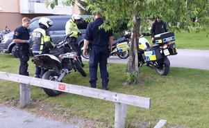 Efter en polisjakt på motorcykel.