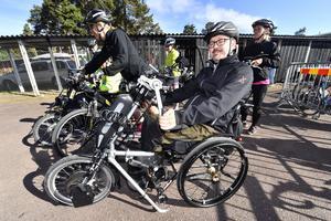 Viktor Sandén, Gävle redo för Orsasjön runt med sin armcykel.