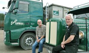 60 år mellan lastbilarna. Det är också den ålder som nu kan firas av Roger Blom och Christer Steingruber.