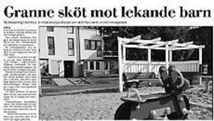 Gefle Dagblad berättade i början av september om skottlossning i ett bostadsområde i Bomhus.