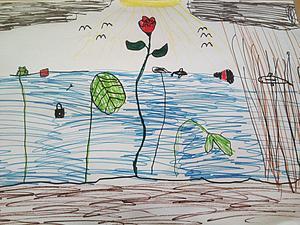 Till slut kom Ramis bild som lekpedagogen Laila Lindberg älskar så mycket – rosen som tar sig genom avloppsvattnet upp till ytan och slår ut mot solen.