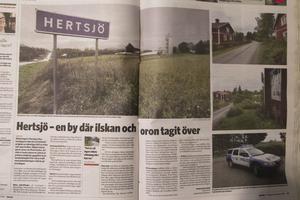 Artiklen i Ljusnan två dagar efter inbrotten.