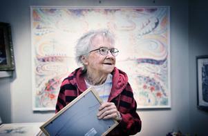 Connie Dellkrantz på en bild tagen på en utställning år 2009.