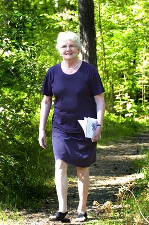 Stark insats. Pensionerade Sylvia Annerbo 69, strävade målmedvetet mot disputationen. Det pågår intressant forskning kring gåtan alzheimer, säger Sylvia.