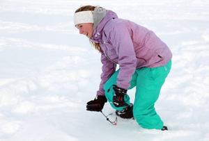 En roligt och lärorik dag, sa Klara Carlund som var en av 63 elever som tränade fjällsäkerhet