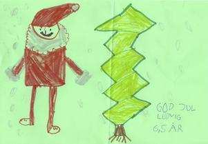 Ludvig 6,5år från Karlholmsbruk, önskar God Jul.