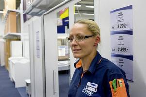 """Förväntat. """"Det är som förväntat. Det tar alltid tid att etablera något nytt"""", säger Anna-Karin Nordqvist, chef för Jysks inredningsbutik i Valbo köpstad."""