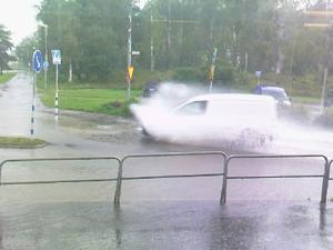 Översvämning i Hallstahammar.