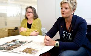 Biträdande sjukhuschef Liselott Sjöqvist, här tillsammans med lanstingsstyrelsens ordförande Denise Norström (S). Foto: Arkiv