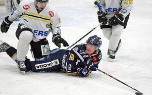 Borlänge på fall. Det är Lars Eriksson som får syna isen.FOTO: johnny fredborg