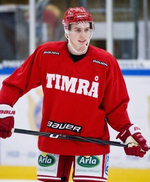 Rasmus Edström spelade fem matcher i Timrå IK säsongen 2012/13. Nu är han utlånad till Björklöven från Skellefteå.