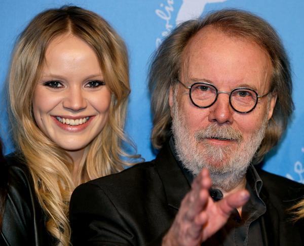 Huvudrollsinnehavaren Miranda Frydman och Benny Andersson, som gjort filmmusiken, vid premiären i Berlin tidigare i veckan.